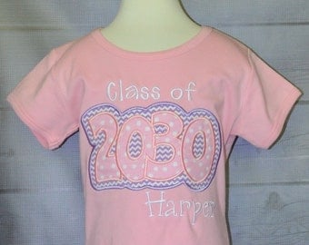 Personalized Class of  Applique Shirt or Onesie Girl or Boy