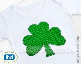Shamrock Applique Design -- Shamrock Machine Embroidery Applique -- St. Patrick's Day Applique Design No. SPT002