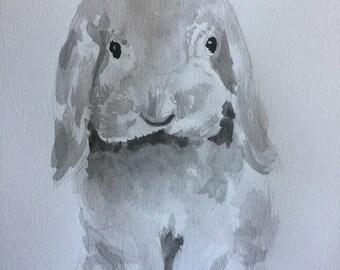 Original Watercolor Bunny