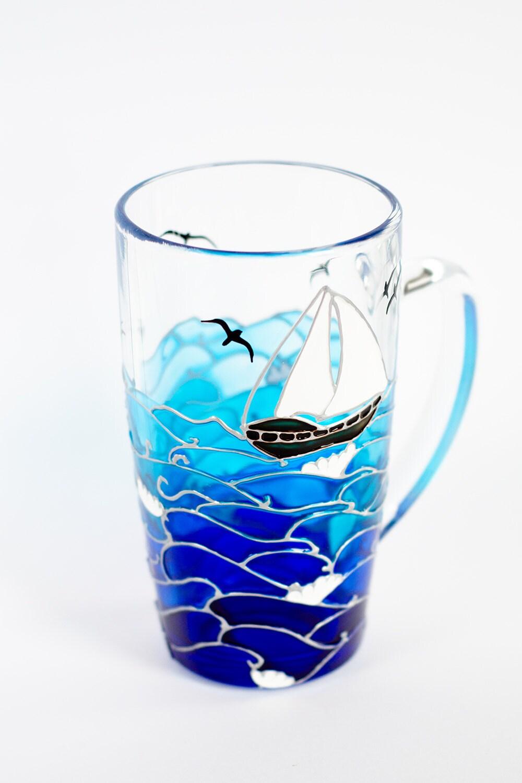Nautical Gift Ocean Themed Coffee Mug Coastal Unique Mugs