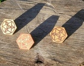 Star Tetrahedron Reclaimed Wood Sacred Geometry Hat Pin
