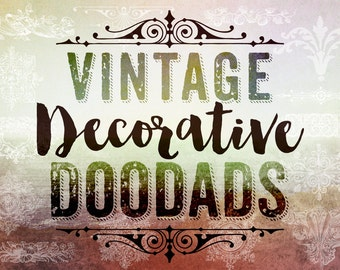 Vintage Decorative Doodads Photoshop Brushes Clip art - 16 Vintage Decorative .abr Photoshop Brushes - Digital Stamps Clipart