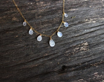 Goddess // Moonstone Gold Necklace // Handmade jewelry