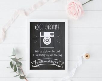 Wedding hashtag wedding instagram sign shoot it share it for Decor hashtags