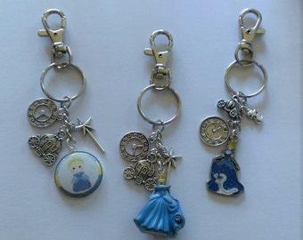 YOU CHOOSE Cinderella Backpack Clip/Purse Charm/Keychain