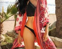 Boho Kimono, Chiffon Kimono, Beach Cover up, Kimono Gypsy Hippie Kimono, Bohemian Shawl, Festival Outfit, Coachella