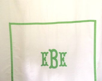 Monogram Applique Shower Curtain / Bath Curtain