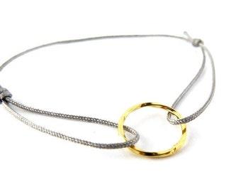 Karma sterling silver bracelet > free choice of color / freundschaftsbändchen