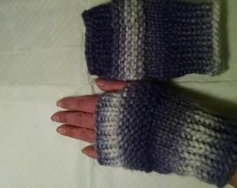 Varigated fingerless mittens