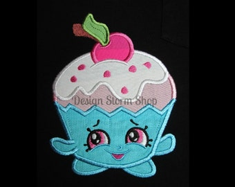 Shopkins Applique Design/Machine Embroidery Design/Cherry Cake/Instant Digital Download File/Boy or Girl/4x4/5x7