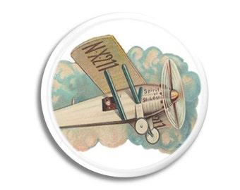 Vintage Airplane Drawer Pull - Plane, Baby Nursery, Boys Room, Aviation, Childs Knob - Cabinet Door, Dresser - 215D21