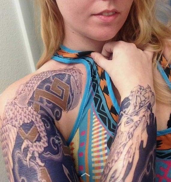 hanzo temporary tattoo sleeve by lessaselig on etsy ForHanzo Tattoo Sleeve