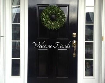 Welcome Friends Door Decal, Welcome Friends Front Door Decal, Front Door Decal, Front Door Decor