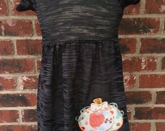 Embroidered Pumpkin Burn Out Dress -- Fall dress