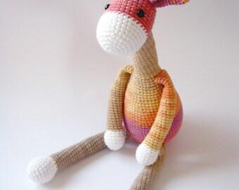 Crochet Giraffe (Pink - Beige - Orange), Amigurumi Animal, Stuffed Animal, Baby Gift, Crochet Toys, Gift Ideas,Birthday gift - READY TO SHIP