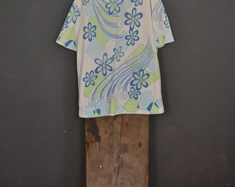 Vintage 1970s floral shirt synthetic - May 68