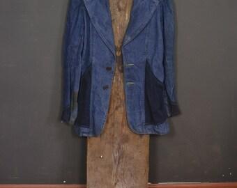 Vintage 60s denim and corduroy workwear jacket Faded Glory