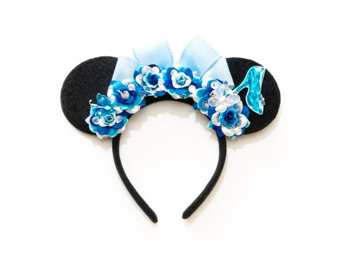 Glass Slipper Mouse Ears Headband