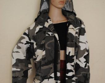 Genuine Vintage Army Jacket Super Warm and Thick Grunge 90s