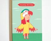 Happy Birdy Birthday Card