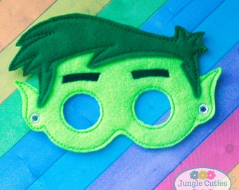 Green Beast Super Hero Mask (M009), Children's Mask for Dress-Up, Party Favors