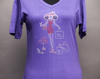 Red Hat Society Rhinestone Shirt