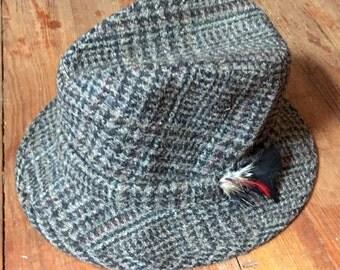 Vintage Irish Tweed Fedora