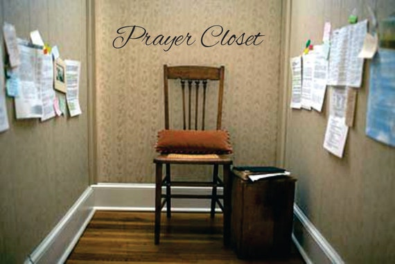 Prayer Closet Vinyl Wall Decal War Room Window Decals