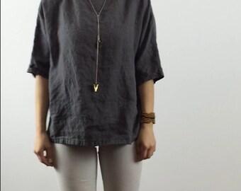 1/2 Sleeve Linen Top / Tunic / Shirt