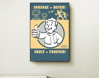 Fallout poster etsy for Fallout 4 canvas painting
