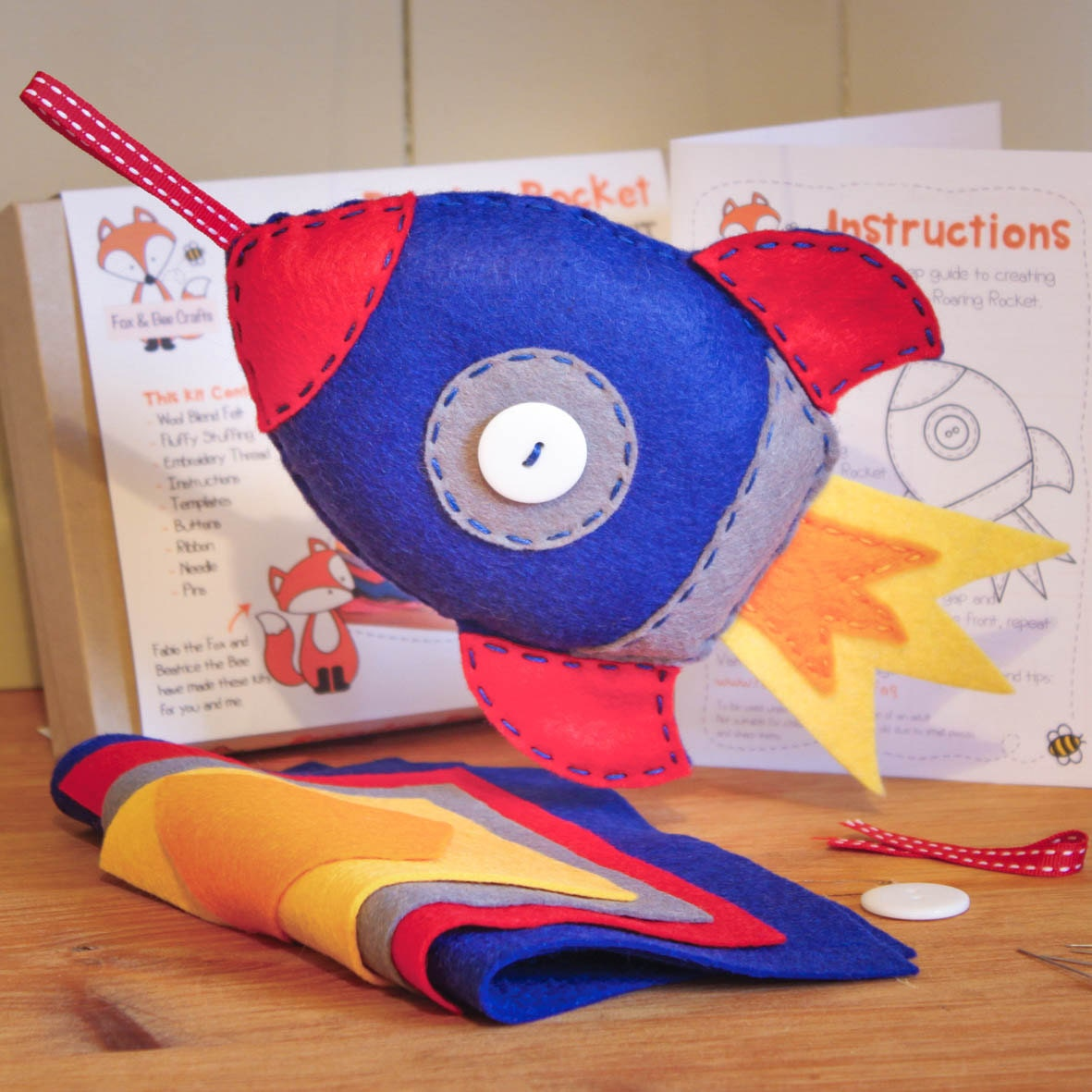 roaring rocket felt sewing kit perfect gift for kids and adults