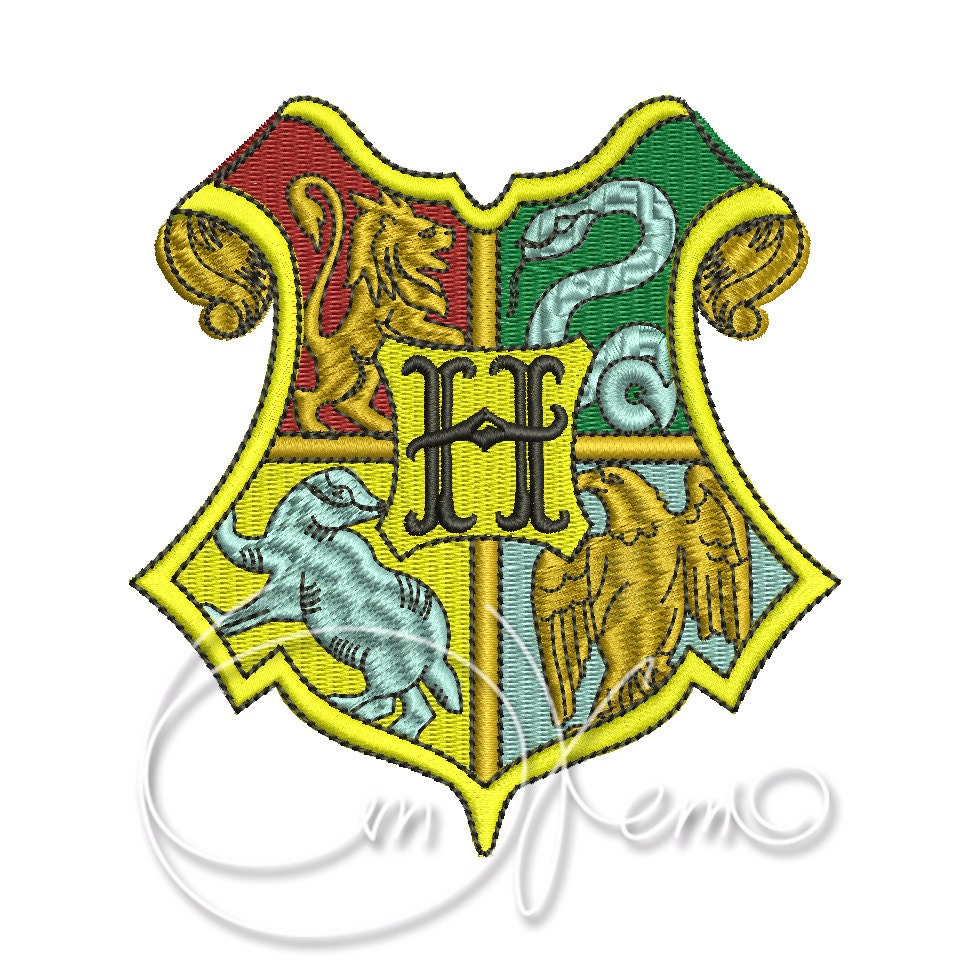 Machine embroidery design hogwarts crest harry