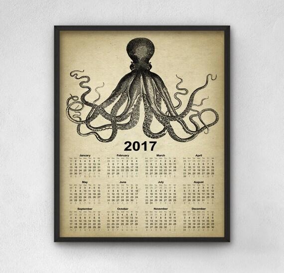 Octopus Calendar 2017