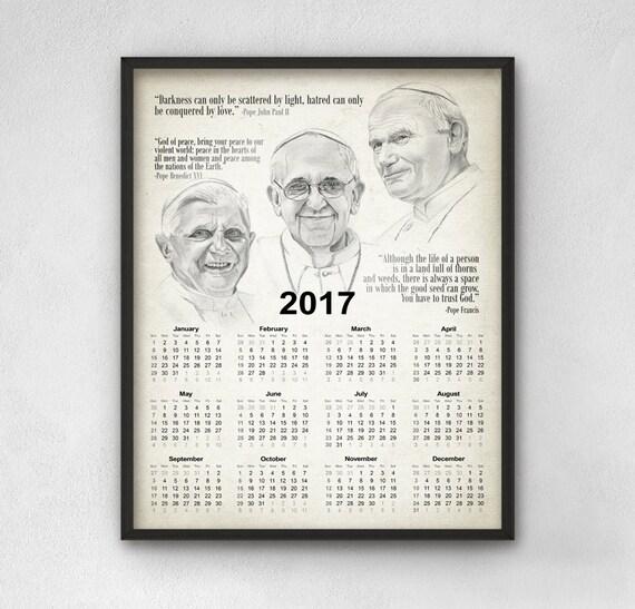 inspirational pope quotes calendar 2017 pope john paul ii
