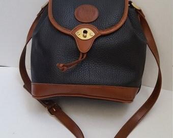 Vintage Alba Cross Body - Black/brown