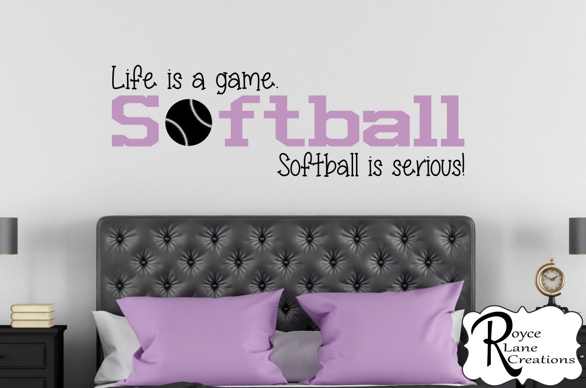 Softball Bedroom Softball Bedroom Etsy