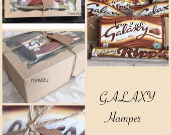 Galaxy Minstrels Chocolate Gift Box/Hamper with Gift Tag & Charm