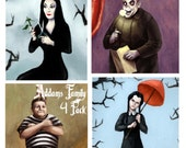 The Addams Family, Haunted Mansion Portraits 4 Pack