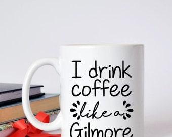 i drink coffee like a gilmore decal / coffee / caffeine / gilmore / girls / rory / drink / love / mornings /