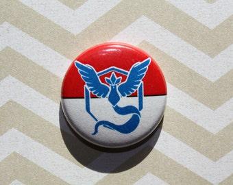 Team Mystic Pokemon-One Inch Pinback Button Magnet