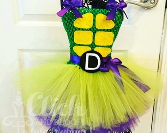 Teenage Mutant Ninja Turtles Tutu WITH LETTER on front