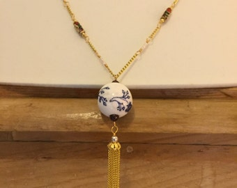 A necklace with a Chinese Tassel