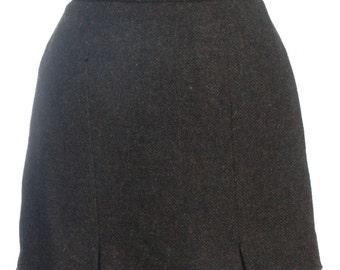 Vintage Thistle Mill Harris Tweed Mini Skirt W28 12 - www.brickvintage.com