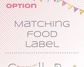 Matching printable Food label