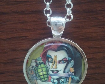 Harly quinn,Harley Quinn Necklace,Harley Quinn pendant Harley Quinn jewelry,Joker,Batman