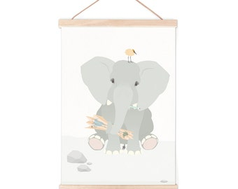 Poster - elephant | children - nursery | 50x70cm - 19,7 x 27,5 inches