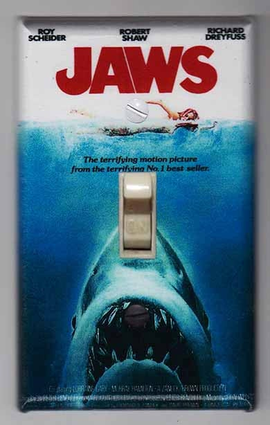 Jaws Movie Poster Light Switch Cover Plate FREE