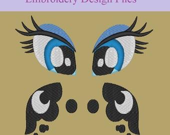 MLP:FiM Princess Luna Eye and Cutie Mark PES set
