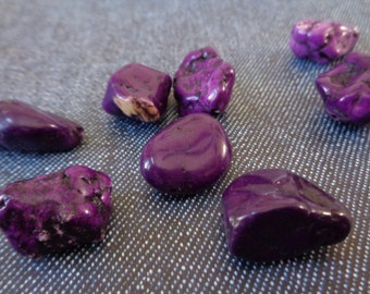 Large Purple Dyed Howlite Nugget Beads in Deep Purple