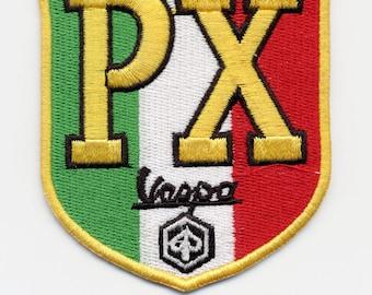 Vintage Style Vespa PX Scooter Patch MOD Badge